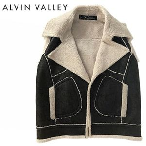 Alvin Valley Faux Shearling & Faux Suede Vest